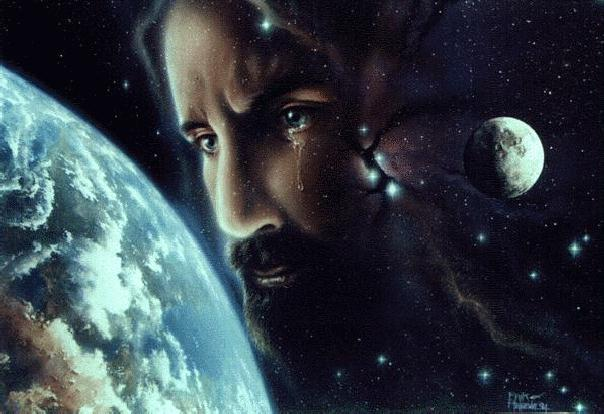 jesuswor.jpg; Jesus looks on the Earth; click on it will link to Webmaster's personal page.