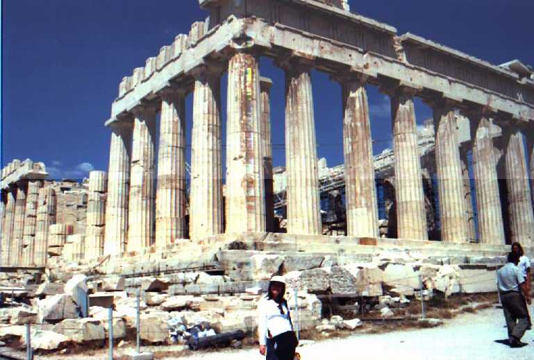 Greek Temple at Acrospolis.